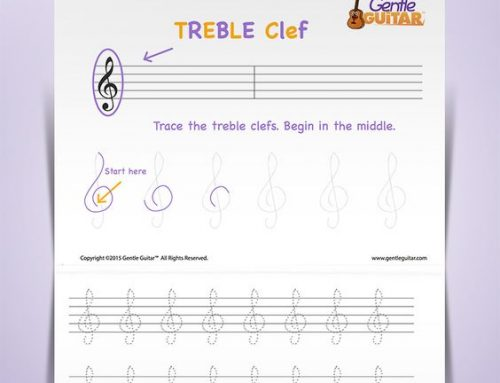 Tracing Music Symbols — The Treble Clef
