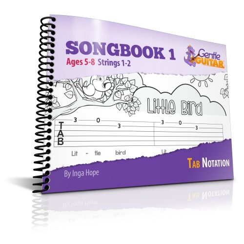 Kids guitar songbook easy tabs for kids
