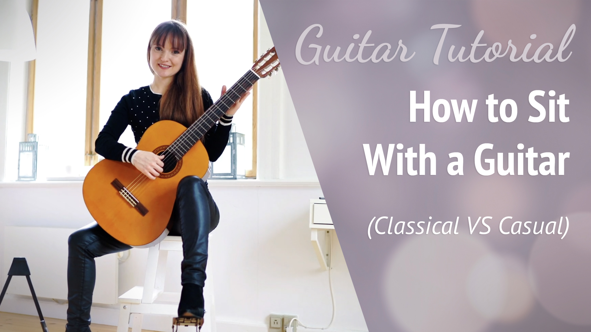 Holding the guitar for beginners