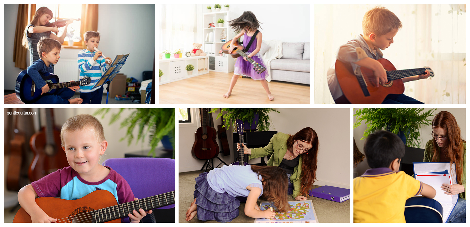 5 year old kids learn guitar