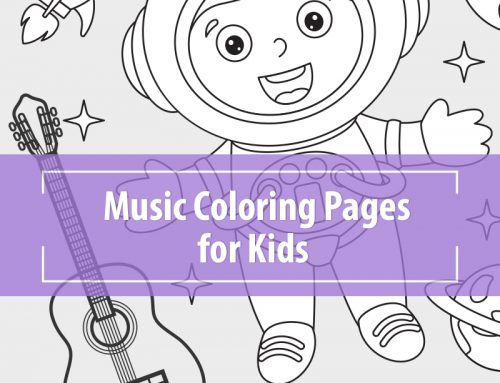 Music Coloring Pages for Kids – Astronaut