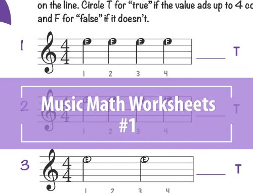 Music Math Worksheets – 1