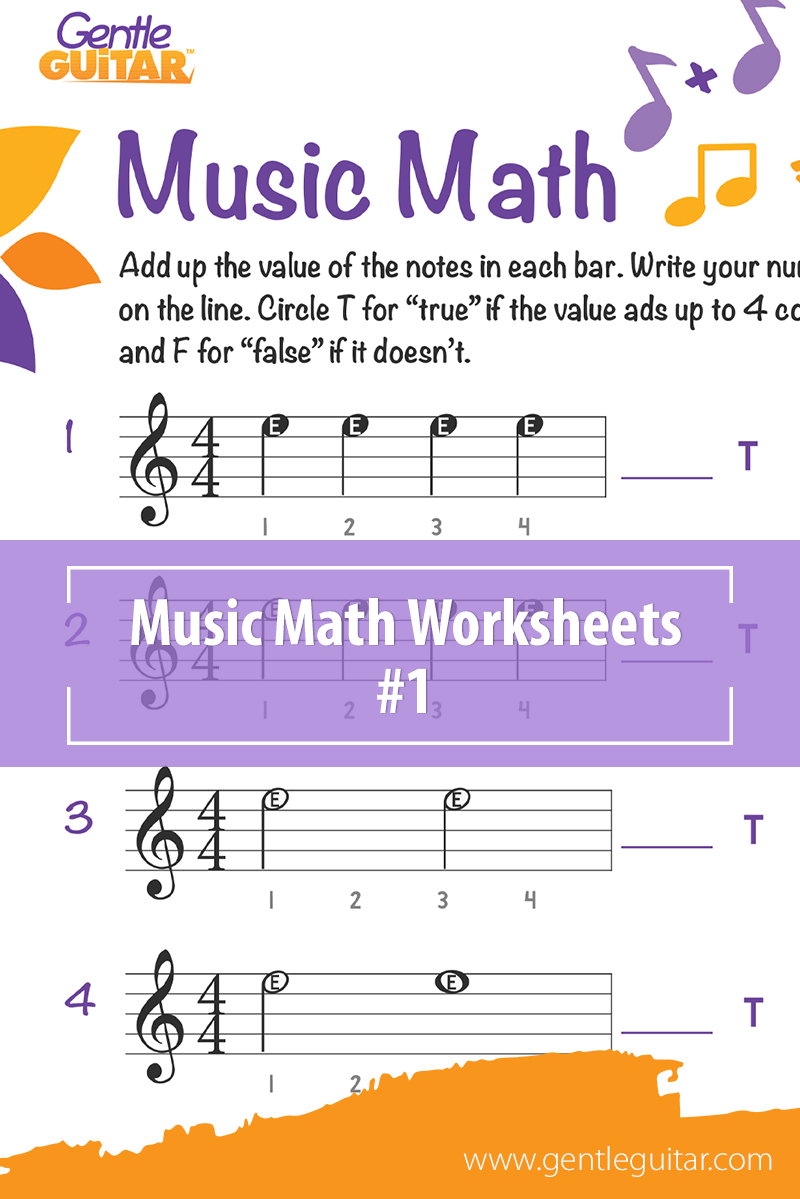 Music Math Worksheets - Free Music Activities for Children ...